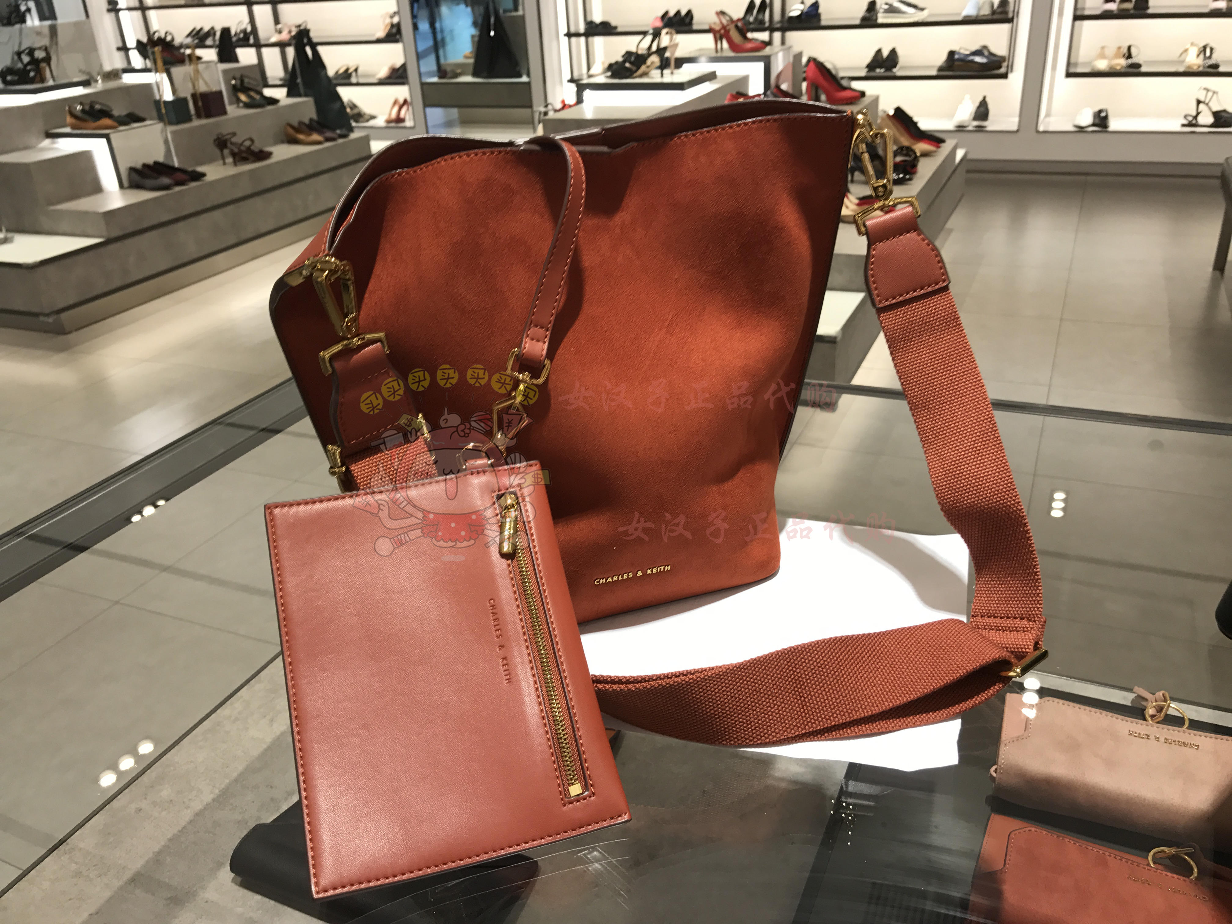 Usd 10465 Can Be Returned2017 Models Charles Keith Shoulder Bag Ampamp Mini Messenger Lightbox Moreview