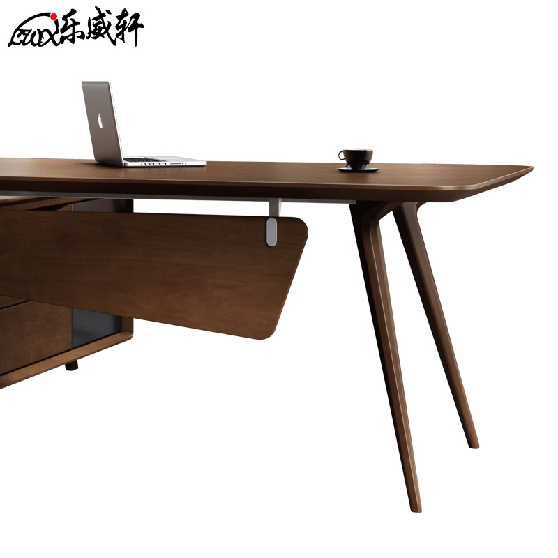 manager office desk wood tables. Le Wei Xuan Boss Table Modern Minimalist Desk Solid Wood Leather Office Furniture Manager Executive President Tables C