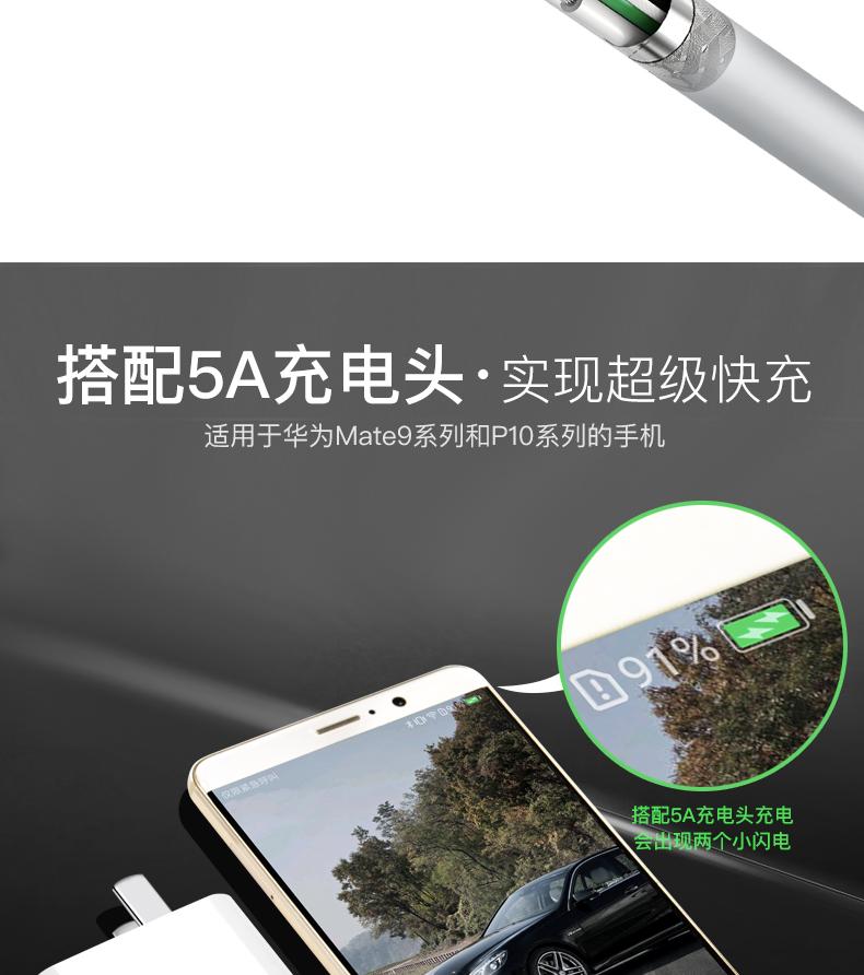华为原装超级快充数据线套装大头充电器荣耀手机正品详细照片