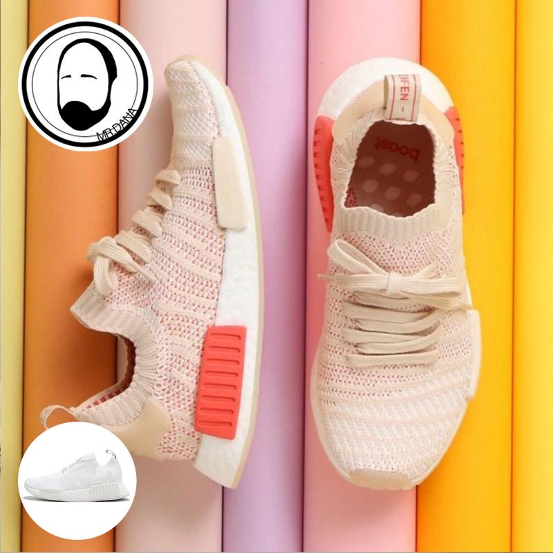 d35f000d0 大拿韩代adidas NMD R1 PK W 樱花粉女款跑步鞋CQ2030 CQ2040