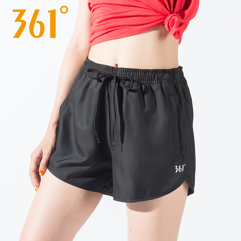 361训练短裤女速干五分裤2019夏季新款女装361度运动健身跑步裤子