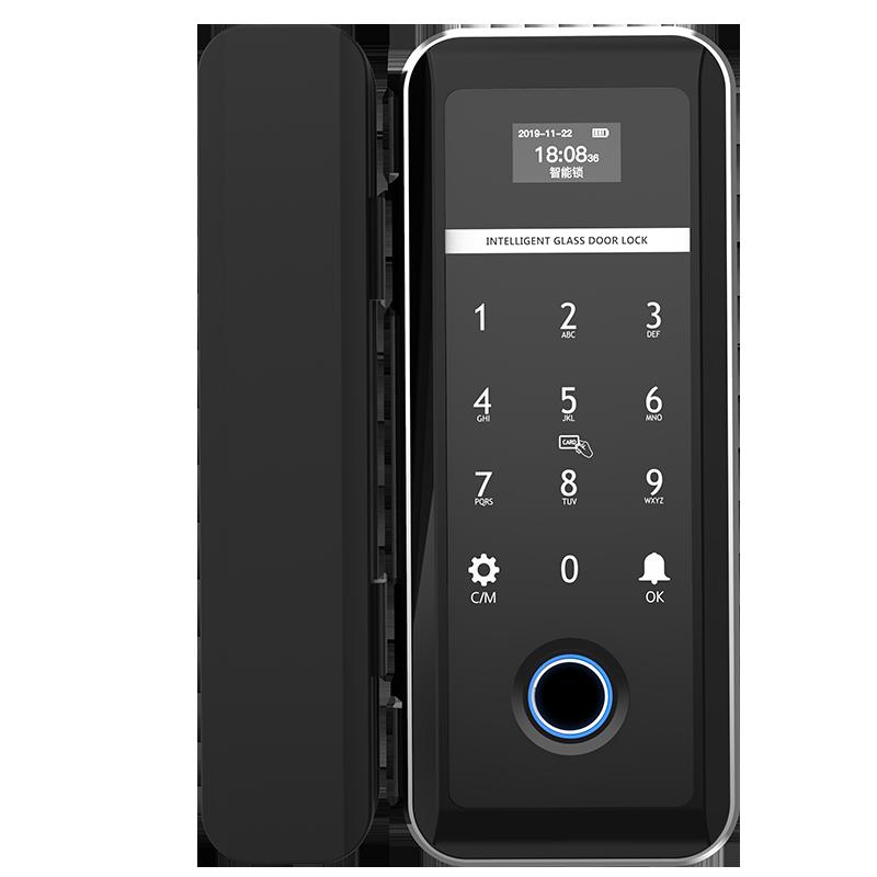 ZUCON F618玻璃门指纹锁单开半导体免开孔办公室智能电子密码锁双新万博体育app官网