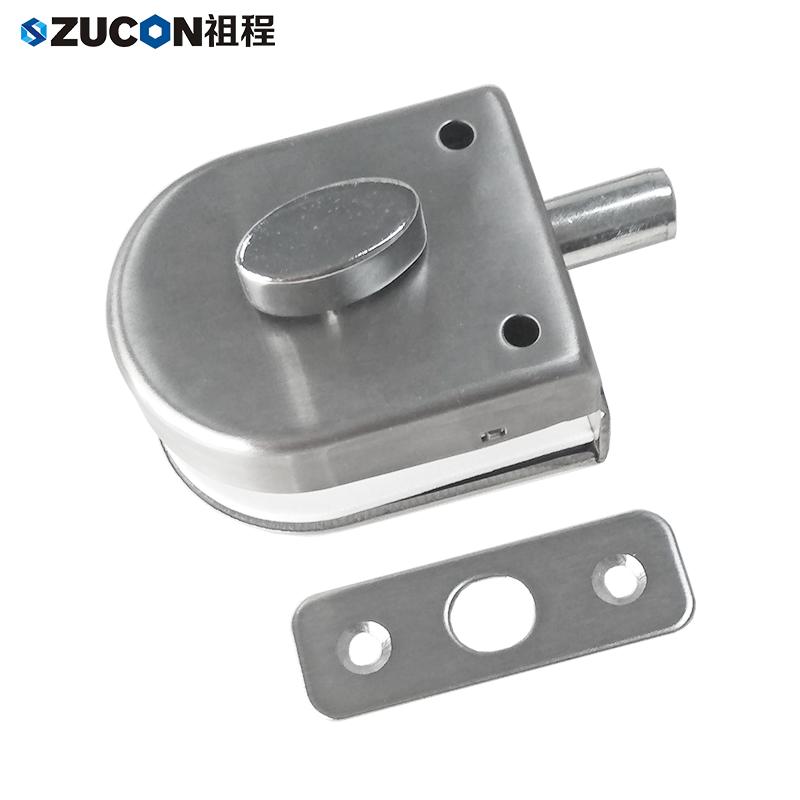 ZUCON祖程玻璃門鎖地銷對開玻璃門強磁無線遙控膠底板地插銷
