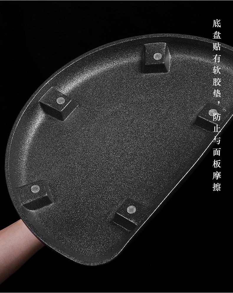 Ceramic kunfu tea tea tea tray was semicircle sea drainage water tray type tea table contracted Japanese tea taking with drainage