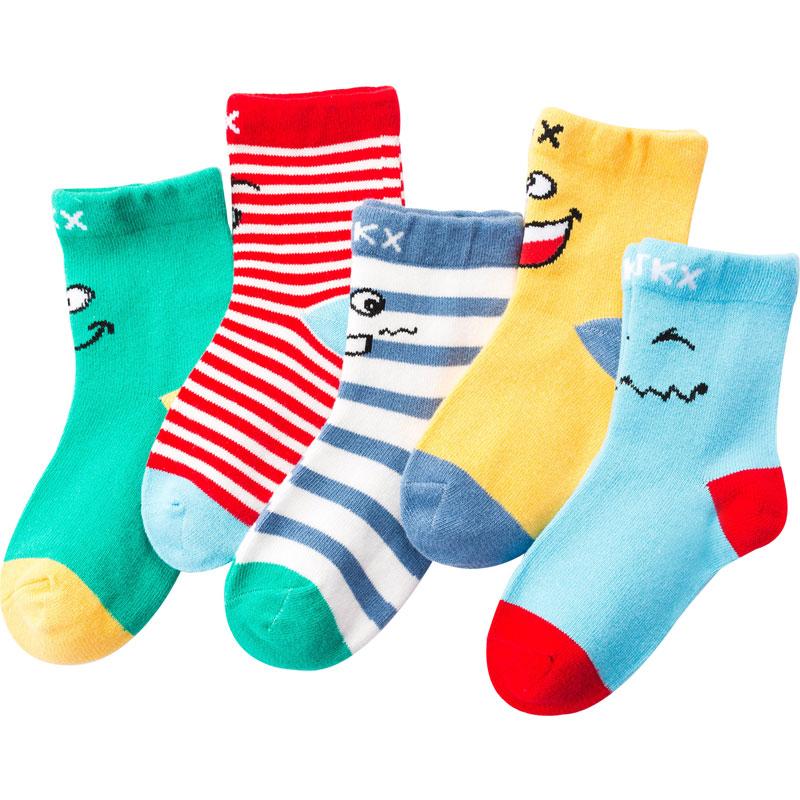 儿童袜子纯棉秋冬季厚款童袜男童女童宝宝棉袜中大童中筒婴儿袜子
