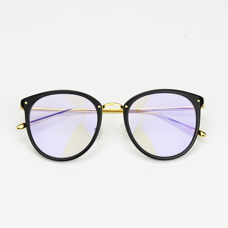 USD 101.29] Face-thin big-framed glasses frame anti-radiation ...
