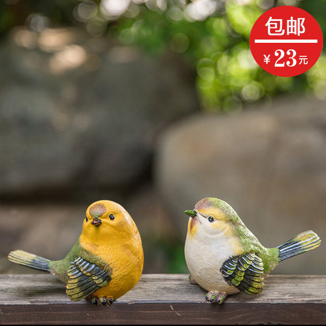 Creative courtyard balcony gardening decoration crafts gifts home furnishings simulation resin bird decoration ornaments