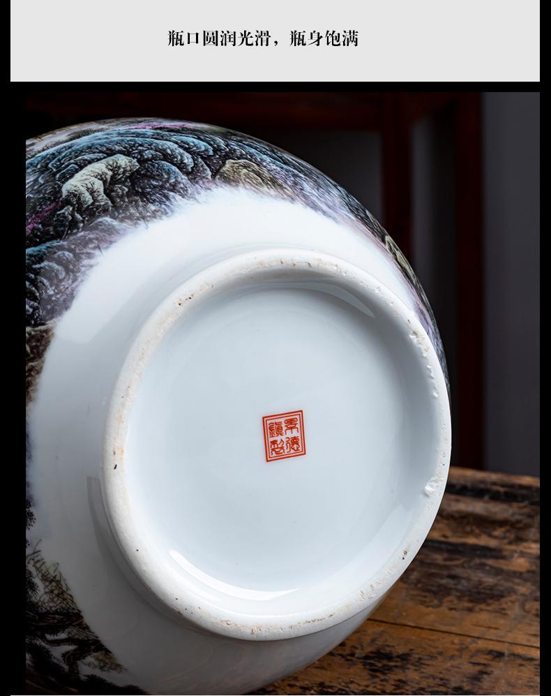 Jingdezhen ceramics powder enamel vase furnishing articles lucky bamboo idea gourd bottle sitting room of Chinese style household flower decorations
