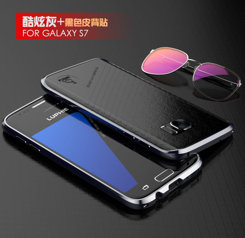 Luphie Blade Sword Slim Light Aluminum Bumper Metal Shell Case for Samsung Galaxy S7 G9300