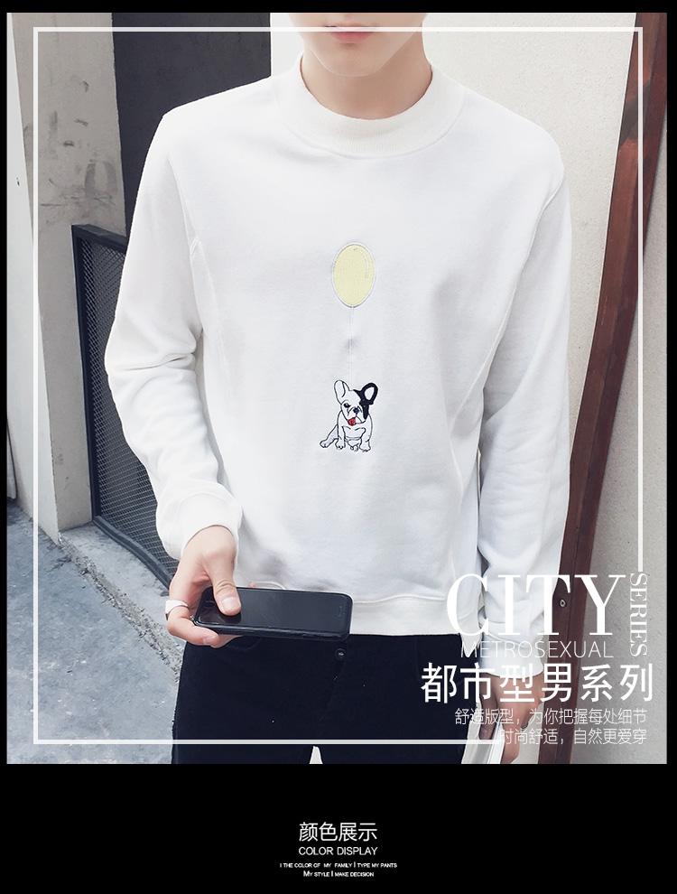 K秋型男款 绣花米老鼠套头卫衣 韩版外套 学生衣服 男装潮F40P45