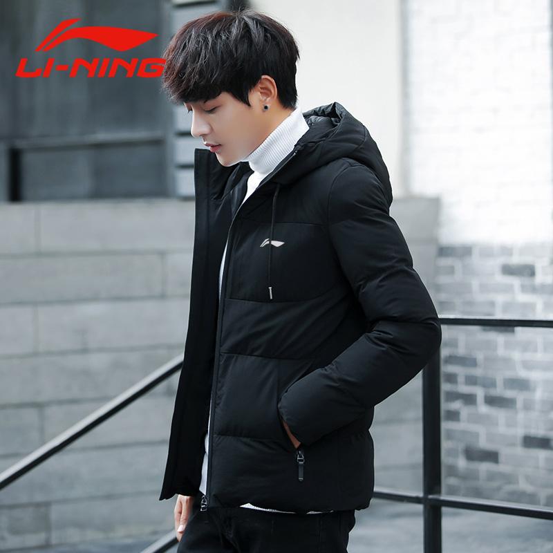 李宁男士外套冬季2019新款棉服男装韩版修身棉袄棉衣帅气加厚潮流