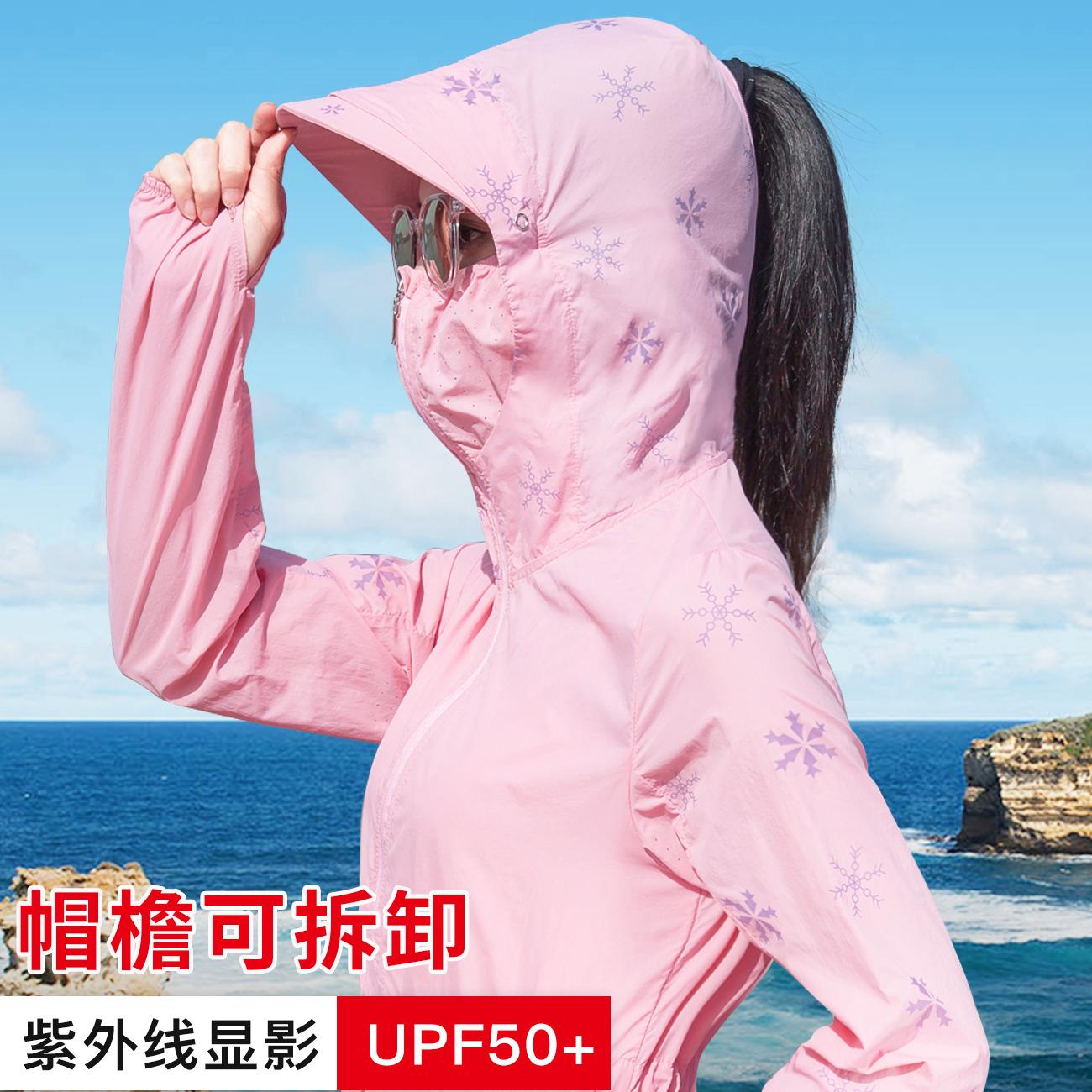 防晒衣女2019夏季新款防紫外线韩版中长款薄款户外骑车防晒服外套