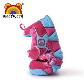 wellweek男童中大童运动休闲鞋跑步鞋