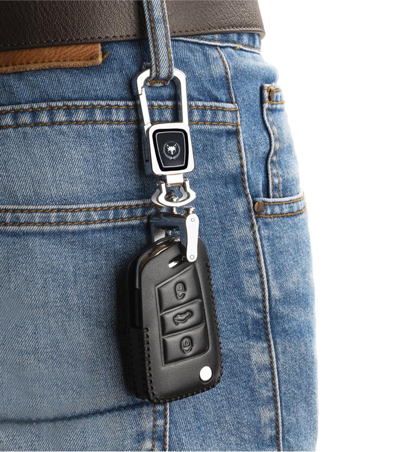 福斯朗逸专用钥匙套款真皮车钥匙保护套款朗逸扣款包详细照片
