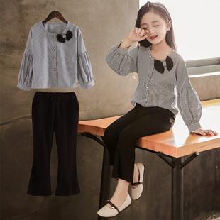 【限量折扣】女童秋装套装2018新款韩版6小女孩春秋长袖两件套9岁儿童洋气潮衣