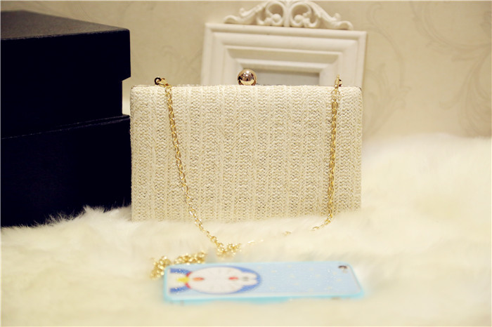 e1621e547f95 ETAILL Straw Knitted Nude Evening Dress Bag For Women Knitting Lady Wedding  Purse Ladies Summer Luxury Clutch Chain Shoulder Bag Shoulder Bags For ...