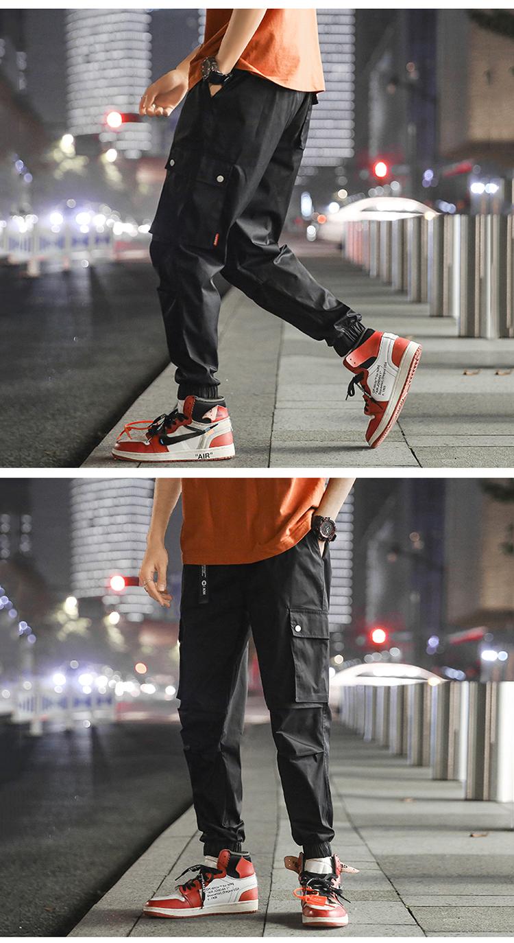 工装裤男夏季休闲裤薄款透气舒服九分裤K1799-p60(控价88)
