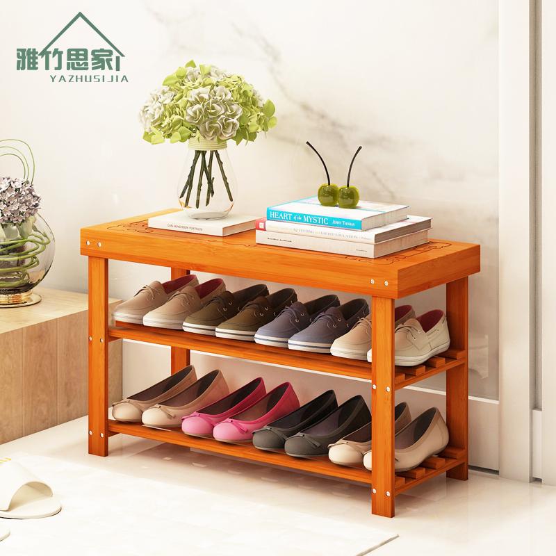 Менять обувь стул обувной дерево простой современный хранение стул может сидеть легко пыленепроницаемый обувная полка экономического типа домой многослойный