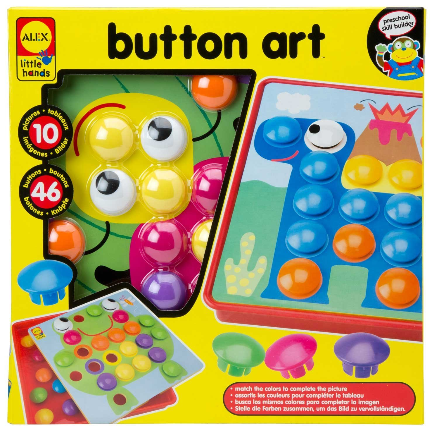 USD 38.88] Spot us ALEX TOYS BUTTON ART button art puzzle nail ...