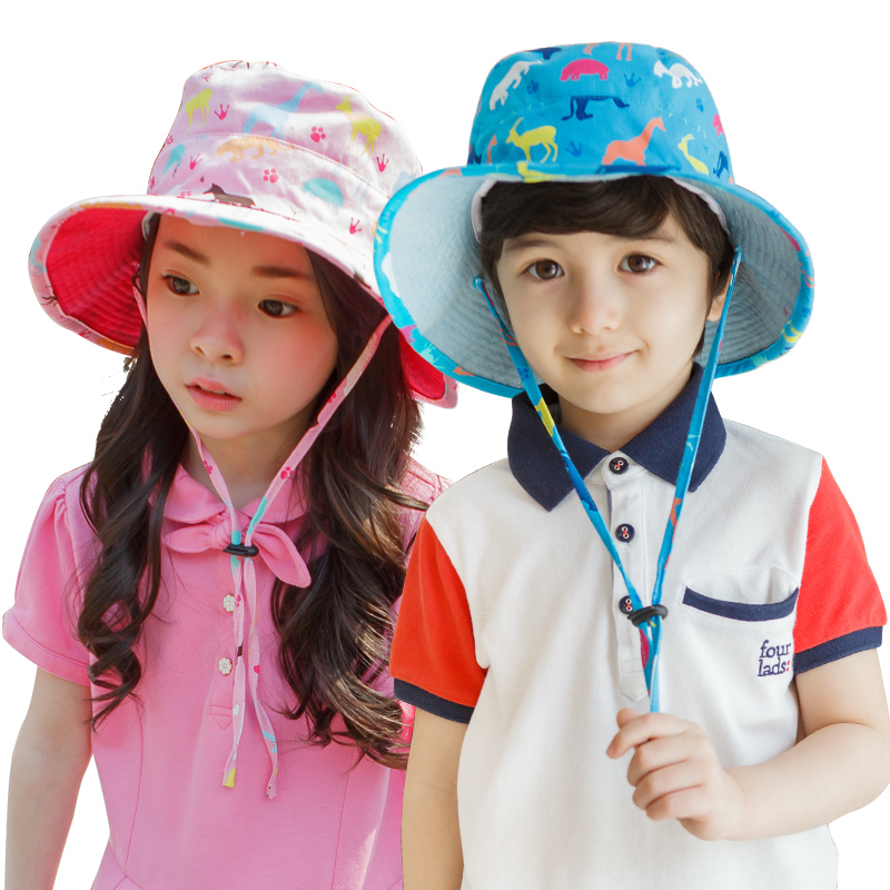 843ea3d36ba Baby fisherman hat child hat boy girl sun hat UV protection thin section sun  visor summer tide