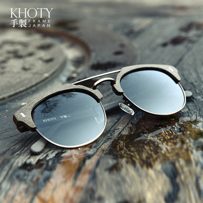 5181acc705cad KHOTY wood grain large frame retro polarized driving driving ...