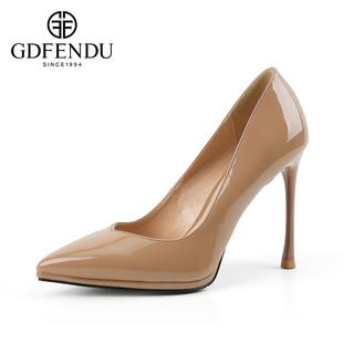 【GD·FENDU】新款细跟高跟鞋单鞋