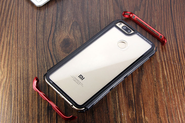 Luphie Nunchaku Airframe Metal Frame Air Barrier Tempered Glass Back Case Cover for Xiaomi Mi 5X / Xiaomi Mi A1