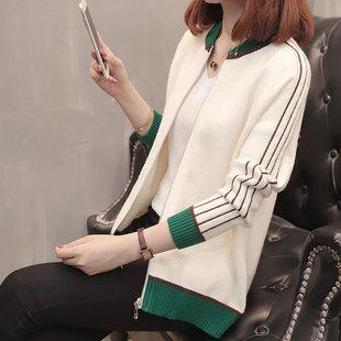 春装新款韩版宽松短款棒球衫外套