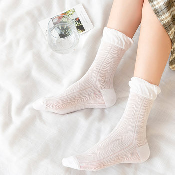 Moon socks summer thin section cotton postpartum loose mouth pregnant women spring and summer maternity tube cotton breathable lace socks