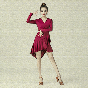 Women's latin dance dresses Latin dance dress for female adult spring competition