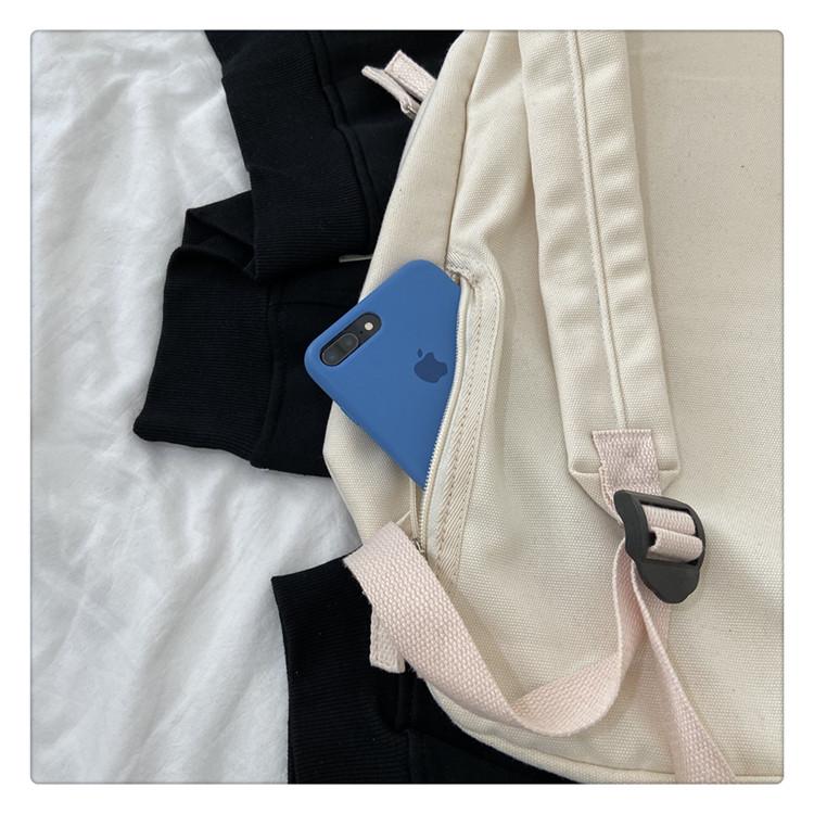 日本無印肩背包休閑簡約防水電腦包新款男女中學生書包帆布背包潮