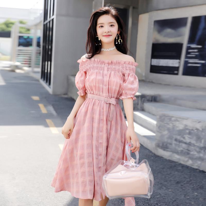 Mot Robe La Été Femme Épaule Coréenne 2018 Version Nouvelle De xRqxBwr