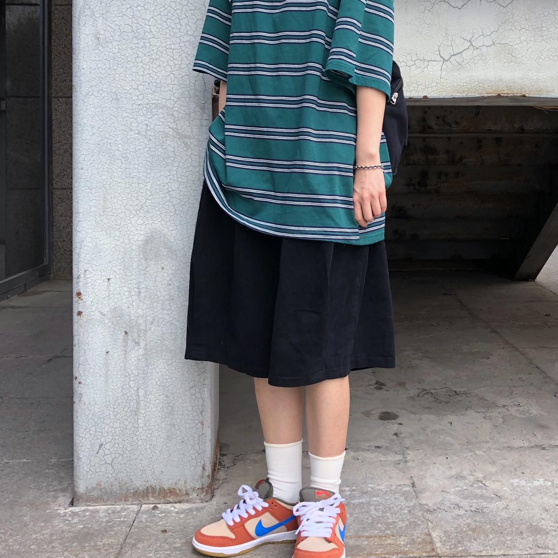 Xu hướng mùa hè của INSstudios Ins Nhật Bản quần dài năm điểm lỏng lẻo màu sắc overalls quần short cho nam và nữ - Quần làm việc