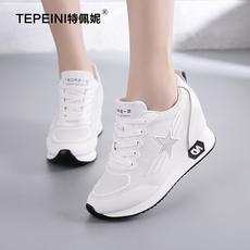 特佩妮新款内增高女鞋休闲运动鞋小白鞋