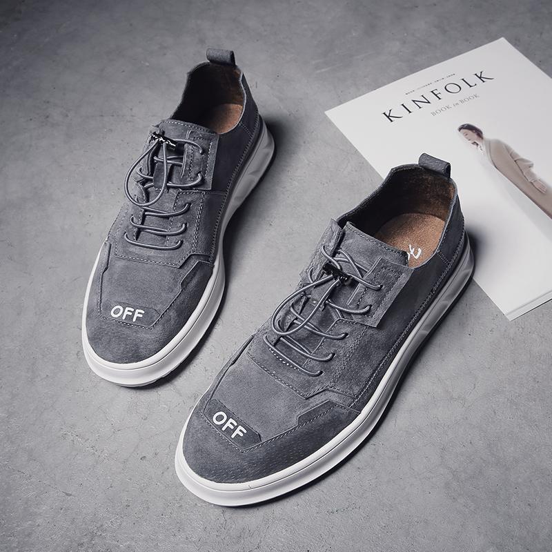 Из натуральной кожи мужской башмак для отдыха башмак мужской кожаная обувь корейская версия модные английский стиль дикий панель Обувь для ботинок 2018 новая коллекция осень