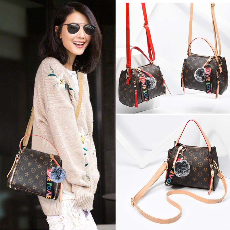 Autumn new small bag female bag 2018 new Korean version of the tide Hong Kong wind wild bucket bag shoulder Messenger bag old flower