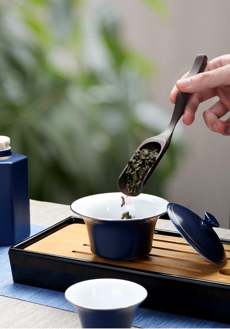 Tureen ceramic bowl cups tea sets only large three Tureen kunfu tea tea set a single white porcelain making tea