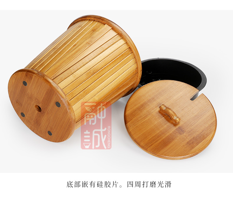 Hot melt cheng detong wears cover bamboo barrels of the tea taking zero bin household water barrels of large bucket