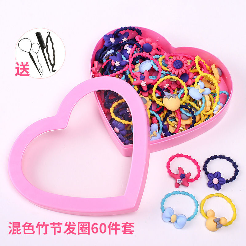 10# mixed color bamboo hair ring 60 sets