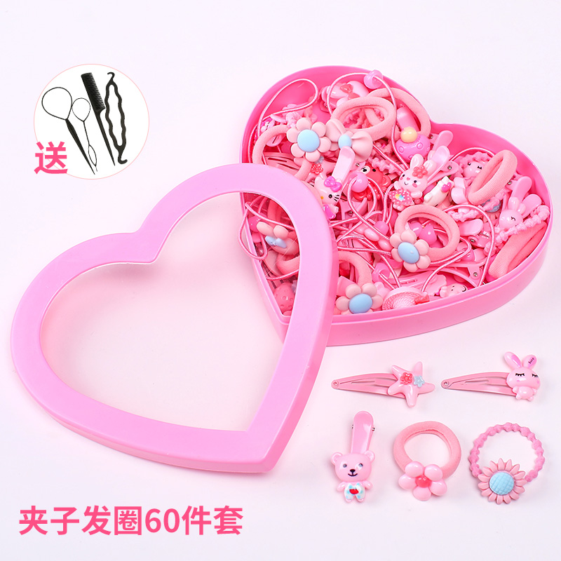 5# powder clip hair ring 60 sets