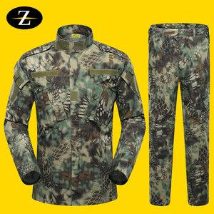 户外迷彩服套装男特种兵野战套装军装军训迷彩服春秋长袖作训服