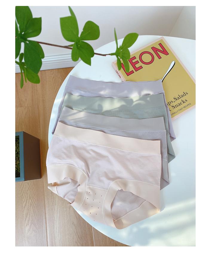 裸感无痕中腰内裤女艾草抗菌裆舒适柔软丝滑女士三角裤详细照片