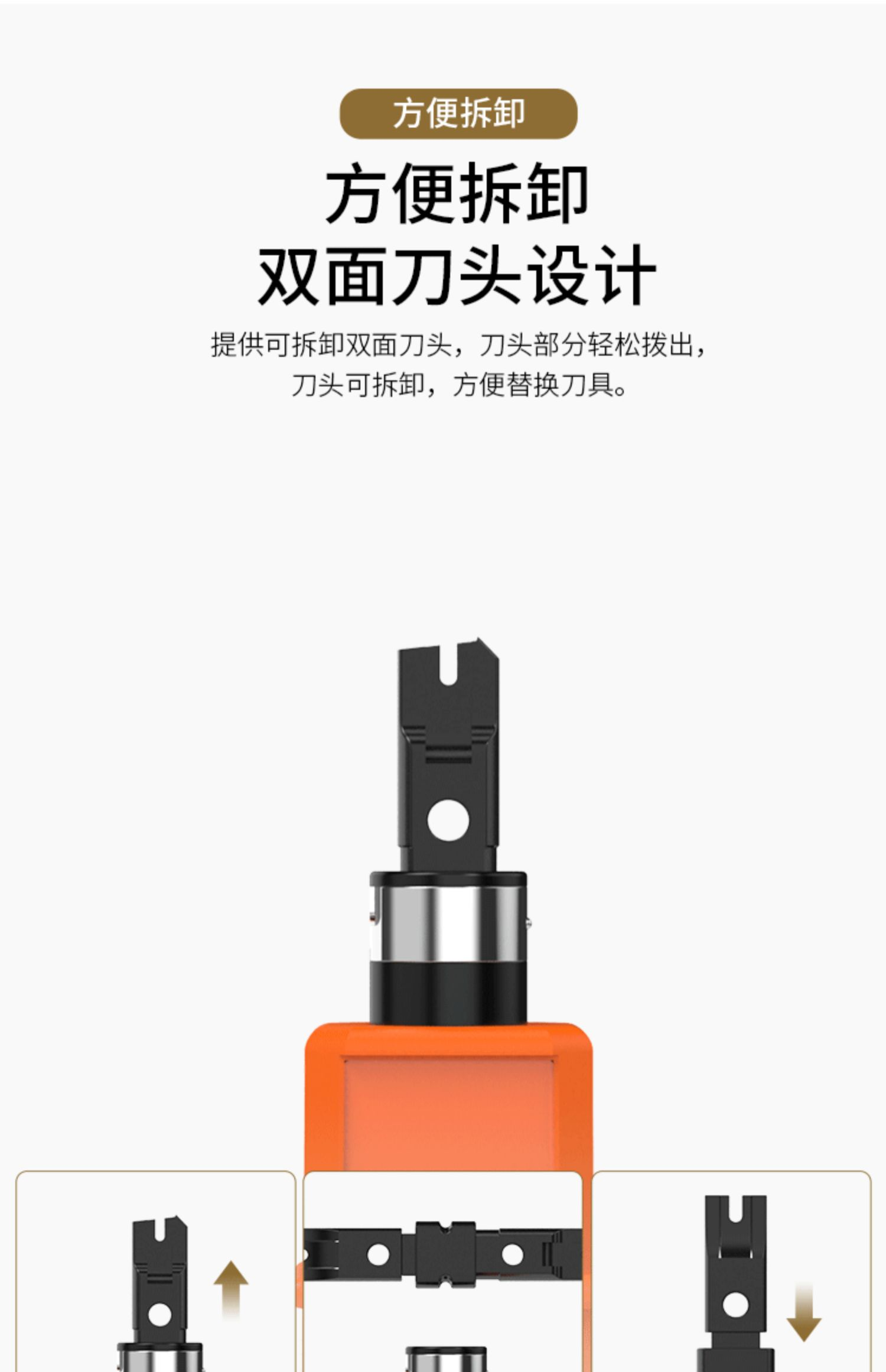 安普西蒙 多功能打线刀网线电话线Rj45网络模块RJ11电话语音模块110配线架卡线工具压线器钳子原装正品商品详情图