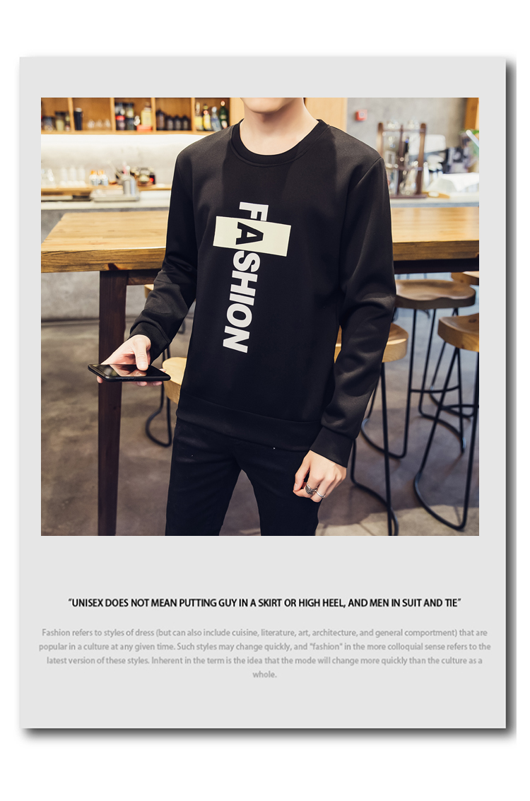 Mùa xuân và mùa thu vòng cổ in áo len Hàn Quốc phiên bản của tự trồng đáy áo giản dị thủy triều nam dài tay T-Shirt đồng phục bóng chày kích thước lớn mùa thu quần áo