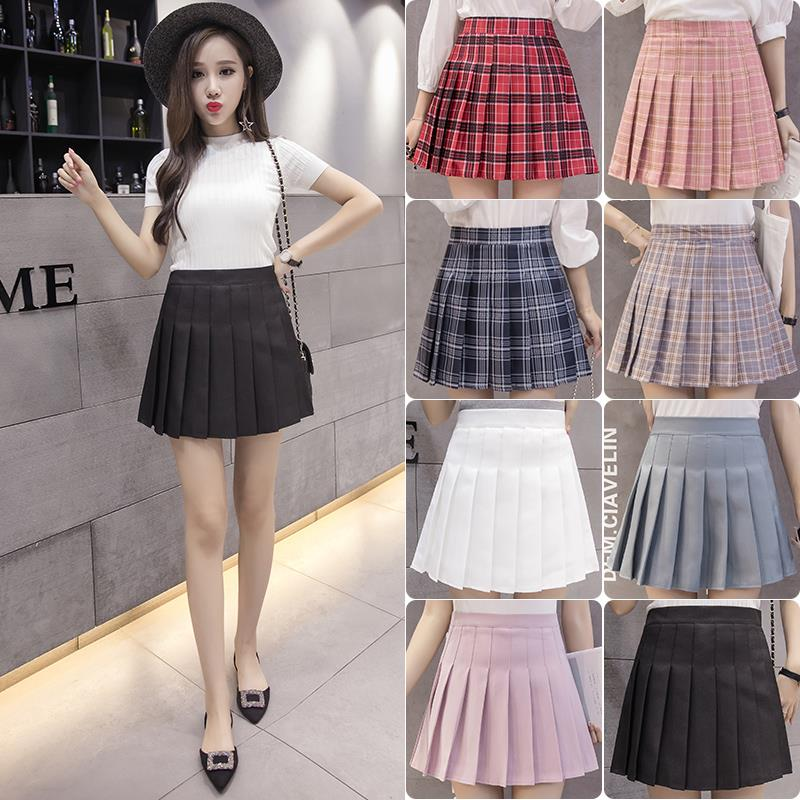 af51db43c6 Skirt female summer new pettiskirt women's skirt large size black high  waist pleated skirt female student Korean skirt