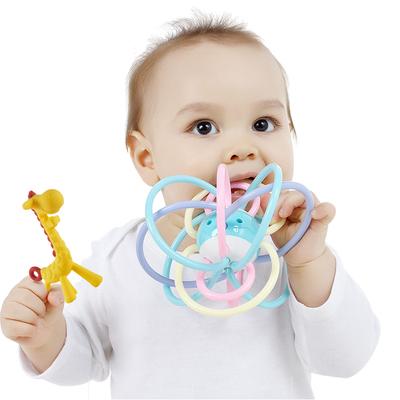 宝宝牙胶磨牙棒咬胶婴儿玩具