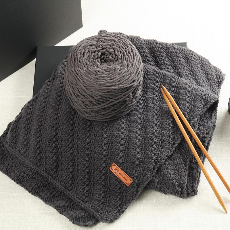 黛青 情人棉送男友女自织围巾毛线球粗线团牛奶编织diy手工材料包