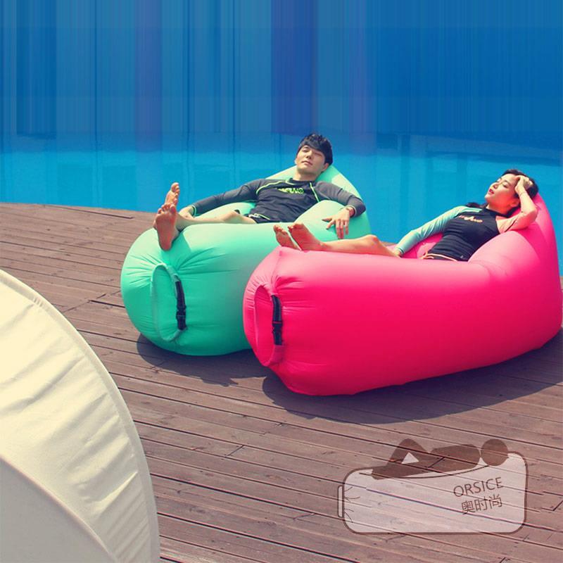 多功能简约现代折叠充气沙发床休闲家用户外斜躺椅懒人空气沙发