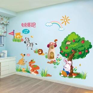 卡通墙纸自粘装饰贴画儿童