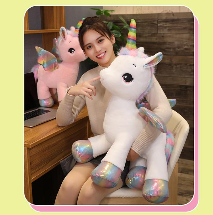 可爱彩虹独角兽公仔网红小马宝宝毛绒玩具玩偶娃娃生日礼物送女生详细照片